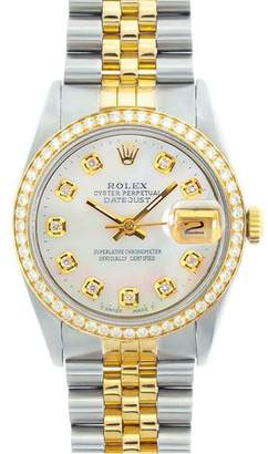 Rolex Datejust 16013 18K Yellow Gold & Stainless Steel 36mm Mens Watch $22,500 thestylecure.com