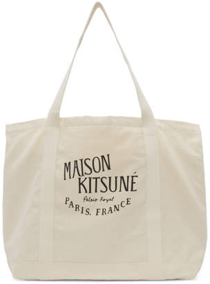 MAISON KITSUNÉ Off-White Palais Royal Shopping Tote