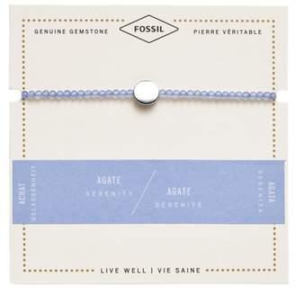 Fossil Blue Agate Disc Bracelet jewelry SILVER