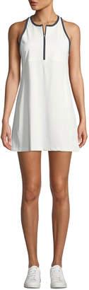Tory Sport Quarter-Zip Racerback Activewear Dress