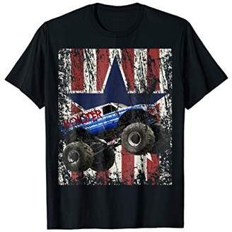 Monster Truck American Flag Extreme Distress T-Shirt