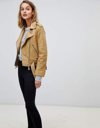 AllSaints saraba leather biker jacket
