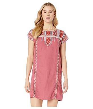Johnny Was JWLA By Women's Embroidered Shift Tunic Dress