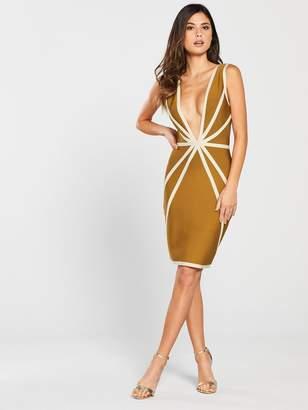 The Girl Code Contour Bandage Dress - Mustard