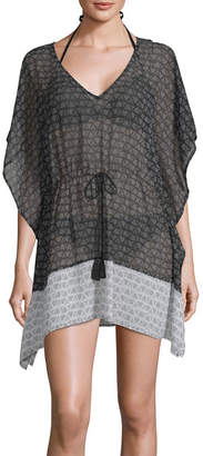 PALISADES BEACH CLUB Palisades Beach Club Geometric Swimsuit Cover-Up Dress