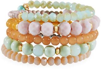 Emily and Ashley Greenbeads By Multi-Row Crystal Wrap Bracelet