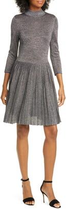 Ted Baker Noaleen Metallic Pleated Dress
