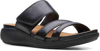 abf26005ee39 Clarks Black Cushioned Footbed Women s Sandals - ShopStyle