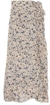 Etoile Isabel Marant Isabel Marant, Étoile Alda printed linen wrap skirt