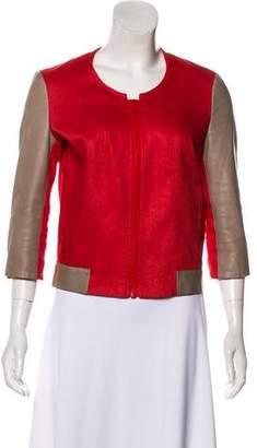 Helmut Lang Linen-Blend Zip-Up Jacket