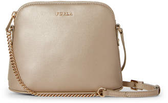 Furla Gold Khaki Miky Leather Crossbody