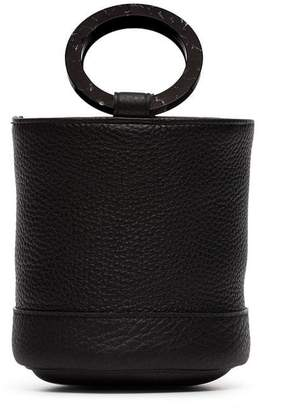 Simon Miller black bonsai 15 leather bucket bag