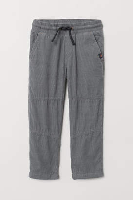 H&M Jersey-lined Pants - Gray