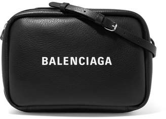 Balenciaga Everyday Printed Textured-leather Camera Bag - Black