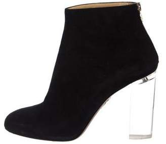 Charlotte Olympia Suede Ankle Boots