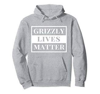 Grizzly Bear Hoodie Grizzly Lives Matter Hooded Sweatshirt