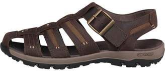 Karrimor Mens Fisherman Closed Toe Leather Sandals Brown