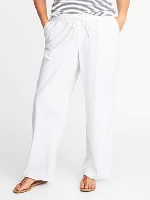 Old Navy Plus-Size Wide-Leg Linen-Blend Soft Pants