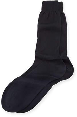 Bresciani Silk-Cotton Mid-Calf Socks