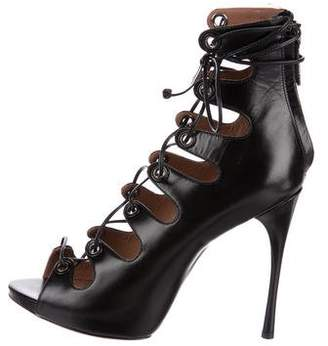 Alaia Leather Lace-Up Sandals w/ Tags