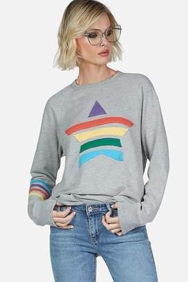 Lauren Moshi Laura Rainbow Vintage Pullover