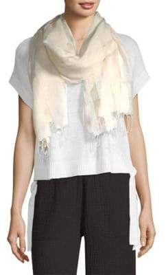 Eileen Fisher Embroidered Eyelet Scarf