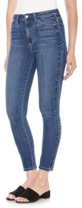 Joe's Jeans Charlie Braid High Waist Ankle Skinny Jeans