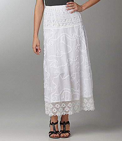 Calessa Crochet-Trim Maxi Skirt