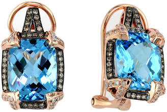 Effy Fine Jewelry 14K Rose Gold 8.24 Ct. Tw. Diamond & Topaz Earrings