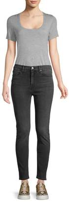Hudson Jeans Barbara High-Rise Studded Skinny Jeans