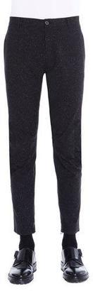 Lanvin Melange Ankle-Zip Biker Pants, Black $795 thestylecure.com