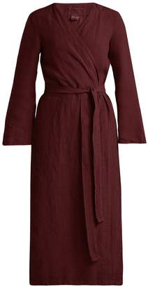 ONCE MILANO Bell-sleeve linen robe