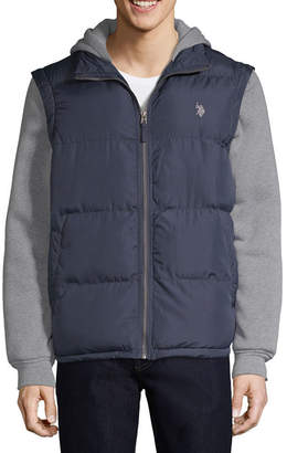 U.S. Polo Assn. Vest With Fleece Hood -Zip Off Sleeves