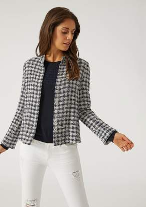 Emporio Armani Single Breasted Jacket In Houndstooth