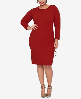 Rachel Roy Plus Size Side-Tie Sheath Dress
