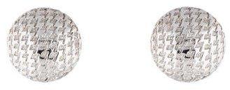 Christian Dior Christian Dior Textured Button Earrings