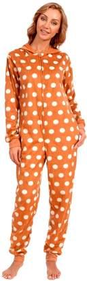 Body Candy Loungewear Women's Adult Christmas Fleece Hooded Onesie Pajama
