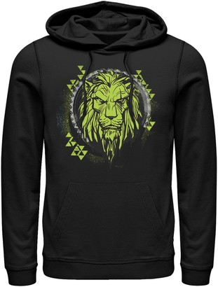 Licensed Character Men's Disney Lion King Geometric Lime Scar Hoodie