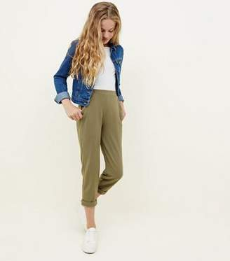 New Look Girls Khaki Tapered Trousers