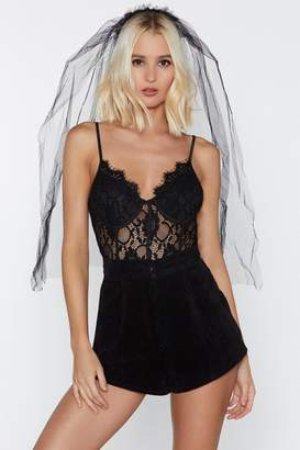 Nasty Gal Take Bride in Your Appearance Veil