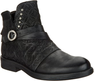 Miz Mooz Leather Strap Ankle Boots - Pixie