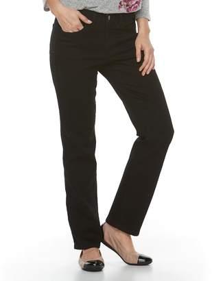 Croft & Barrow Women's Straight-Fit 5-Pocket Jeans