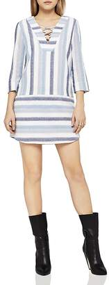 BCBGeneration Lace-Up Striped Dress