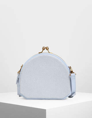Charles & Keith Geometric Structured Crossbody Bag
