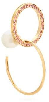 Delfina Delettrez Sapphire, Pearl & Yellow Gold Single Earring - Womens - Pink