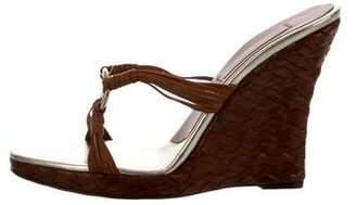 Michael Kors Leather Slide Wedges