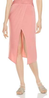 Haute Hippie Jetset Ruched Draped Midi Skirt