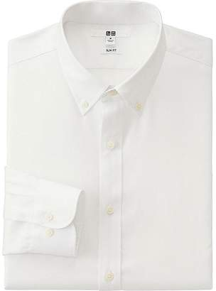 Uniqlo Men's Easy Care Oxford Slim-fit Long Sleeve Shirt