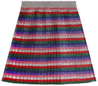 Gucci Children's lurex pleated skirt
