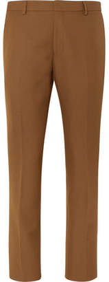 Dries Van Noten Camel Slim-Fit Cropped Wool-Blend Twill Suit Trousers